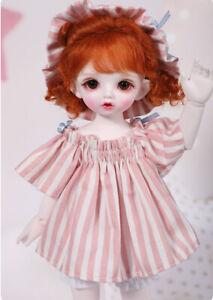 Pink Striped Dress skirt pumpkin pants sundress 1/3 1/4 1/6 SD BJD doll Clothes