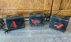 Lot 3 Vintage Louis Marx Electric Train Transformers Model 729 UNTESTED AS IS