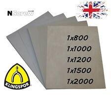 SANDPAPER 5 SHEETS 800 1000 1200 1500 2000 GRIT WET AND DRY WATERPROOF