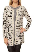 Nerwegerer Damen-Pullover mit mittlerer Strickart ohne Verschluss