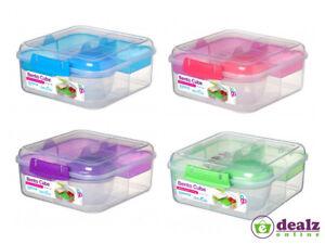 Sistema Bento Cube To Go1.25L Healthy Eating Work School Lunch Box Yogurt Pot