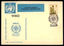 YU COVER 1965 UNO UN UNITED NATIONS WMO SARAJEVO dh74