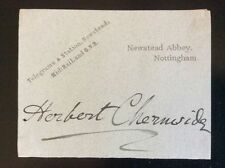 Autograph Lieutenant General SIR HERBERT CHERMSIDE Boer War*Governor/Queensland