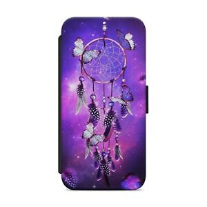 DREAM CATCHER BUTTERFLY WALLET FLIP PHONE CASE COVER FOR IPHONE SAMSUNG      s13