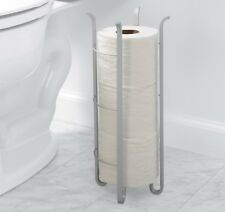 Rust Proof Aluminum Toilet Paper Tissue Storage Holder Reserve Stand, satin chrm