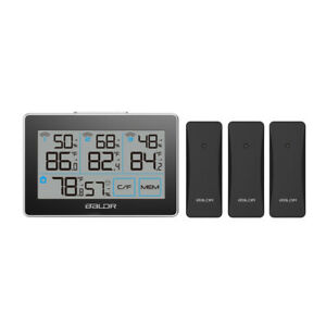 BALDR B0317 Digital Wireless In/Outdoor Weather Station Humidity Meter 3 Sensors