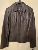 Sonoma Lambskin Leather Jacket Brown Zip Up Size Small NWT