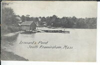 CG-166 MA, South Framingham, Leonard's Pond Divided Back Postcard Massachusetts