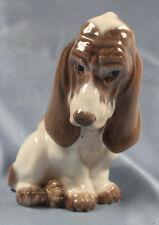 Basset hound hundefigur hund Porzellanfigur Royal copenhagen porzellan figur dj
