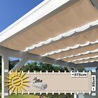 Falt-Sonnensegel sand 375x95cm Komp. Set Innenbeschattung Glasdach Wintergarten
