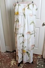 White House Black Market Strapless Floral Tiered Maxi Dress XL
