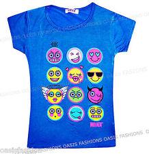 Abbigliamento blu a manica corta con girocollo per bambine dai 2 ai 16 anni