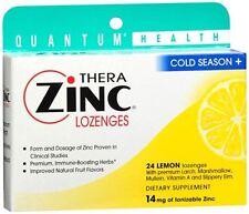 Quantum Thera Zinc Cold Season+ Lozenges Lemon 24 Each