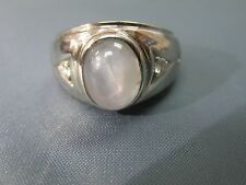 Vintage Man's Ring 14K gold and diamonds with Gray Cats Eye / Star sapphire