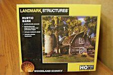 WOODLAND SCENICS LANDMARK STRUCTURES RUSTIC BARN HO SCALE BUILDING KIT
