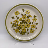 Spring Bouquet Stoneware Plate Vintage Hand Painted Made In Japan
