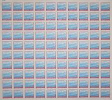 YUGOSLAVIA: FULL SHEET OF 100 x 2 DINARA STAMPS 1990, SCOTT #2014 CV$50