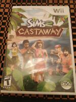 The Sims 2: Castaway (Nintendo Wii, 2007) Complete CIB with Manual Tested