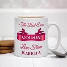 Personalised White Ceramic Mug - The Best Ever Cousin
