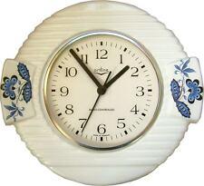 24161610 Keramik Küchenuhr Artline Zwiebeldekor Blaurand optischer Fehler Funk