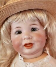 "Antique 18"" German Bisque Kammer Reinhardt 116A Closed Mouth Toddler Doll"