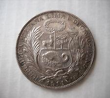 1 SOL PERU' 1914 F.G Type 12 - ARGENTO .900 - PERU SILVER 9/10