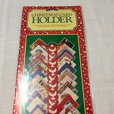 Vintage 1983 Christmas Card Holder ~ Holds 30 Cards ~ White Dove Design ~ New