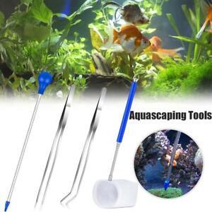 Aquarium Tweezer Acrylic Fish Reef Feeding Tube Cleaning Tools for Fish Tank