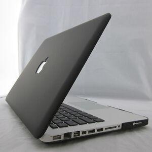 Black Matte Rubberized Hard Case Cover For Macbook Air Pro 11 13 15 inch Retina