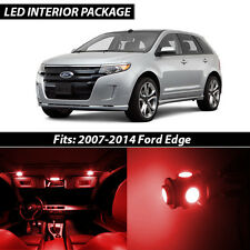 2007-2014 Ford Edge Red Interior LED Lights Package Kit