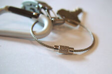 Wire Keychain USA Mechanics EDC for keys Aircraft Cable Stainless Steel RING FOB