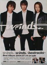 "W-Inds ""Bestracks"" Japan Promo Poster-Jpop Asian Music"