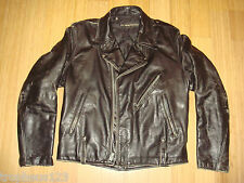 60s 70s Harley Davidson AMF Black Thick Leather Motorcycle Jacket Biker Sz 40 42