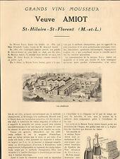 49 ST-HILAIRE-ST-FLORENT CREMANT VEUVE AMIOT VINS MOUSSEUX PUBLI-REPORTAGE 1925
