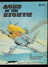 Rare Vintage Squadron Signal Magazine Aces Of The Eighth Aircraft Plane