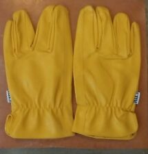 NEW deerskin unlined drivers multi purpose work gloves Size Large
