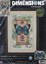 Dimensions Needlepoint KIT #20006 Butterfly On Scroll Sealed OOP