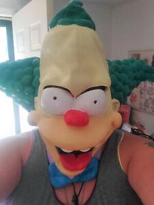 KRUSTY THE CLOWN Halloween FULL HEAD Rubber Mask 2002 Simpsons Matt Groening Fox
