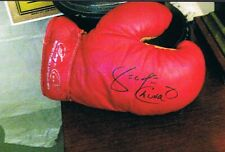 Heavyweight Ali opponent boxer GEORGE CHUVALO signed EVERLAST boxing glove w/pic