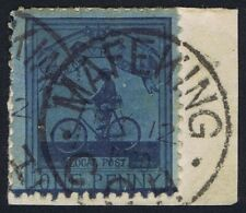 Mafeking 1900 SG18 1d Deep Blue Goodyear Fine Used on Piece 12 May Cat. £325.00
