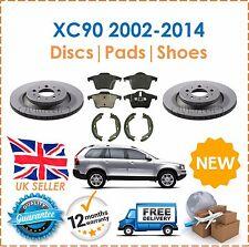 For Volvo XC90 2002-2014 Rear Brake Discs & Brake Disc Pads + Handbrake Shoes