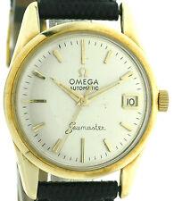 Omega Seamaster Automatik Vintage Herrenuhr mit Datum in 585/14k Gold, Kal. 562