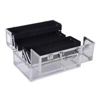 Portable Makeup Case Train Case Lockable Aluminum with 4 Trays