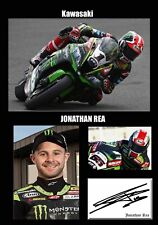 "Jonathan Rea Kawasaki Motor Cycle Framed Canvas Print Signed ""Great Gift"" #2"