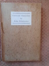 COSTWOLD CHARACTERS BY JOHN DRINKWATER - YALE UNIVERSITY PRESS 1923