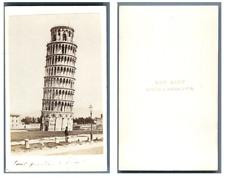 Van Lint, Italie, Pise La Tour Penchée CDV vintage albumen,  Tirage albuminé