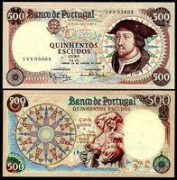 PORTUGAL 500 ESCUDOS 25-1-1966 P 170 UNC