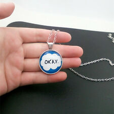 okay The fault in our stars Glass Cabochon Tibet silver pendant chain necklace