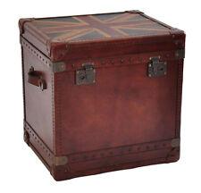 Vintage Leder Design Aufbewahrung Klassiker Truhe Union Box