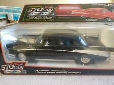 New Bright 57 Chevy Bel Air Remote Control Corded Rc Car 1986 Black